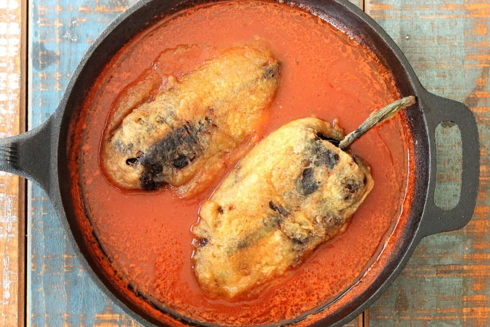 Chiles Rellenos Stuffed with Mexican Queso