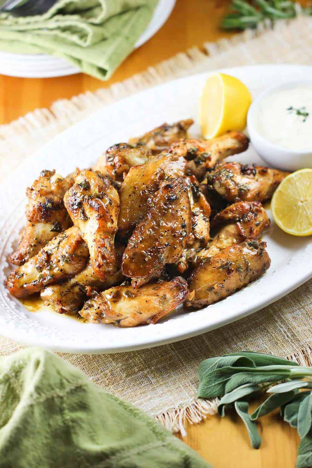 Italain-Style Chicken wings recipe