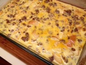 uncooked breakfast casserole