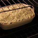 rustic lasagna in the oven