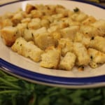 homemade Caesar Salad croutons