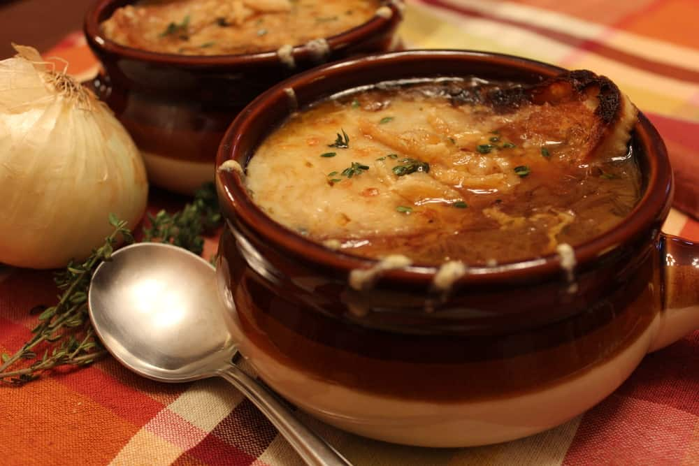 anything more comforting than a piping hot dish of French Onion Soup ...