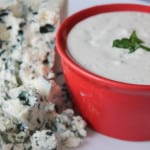 homemade blue cheese dressing is easy and delicious