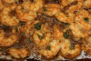 Cajun shrimp out of the oven