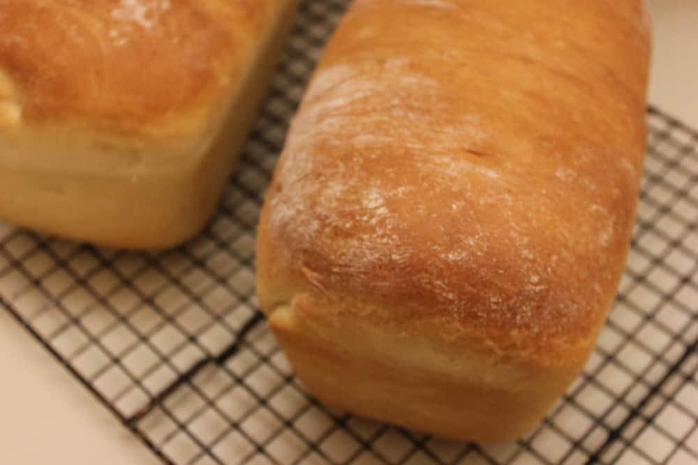 Homemade county white bread.