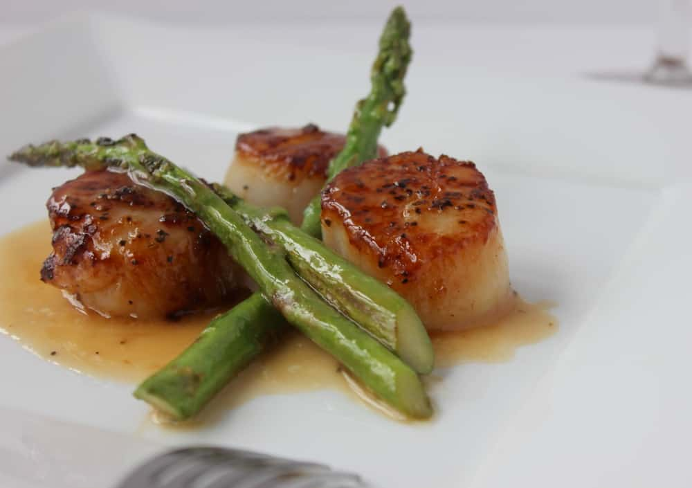 Seared Scallops with Asparagus - How To Feed A Loon