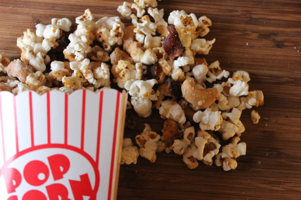 black pepper bacon and maple popcorn