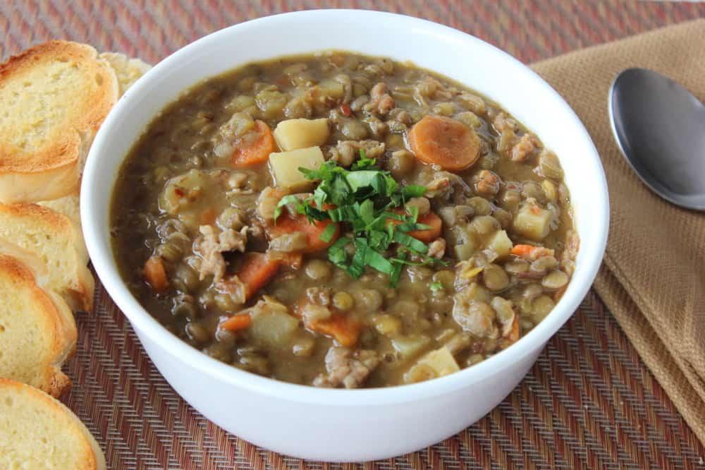 Rustic Tuscan Lentil Soup