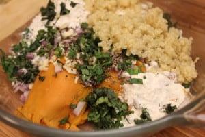 Sweet Potato and Quinoa Cakes Ingredients