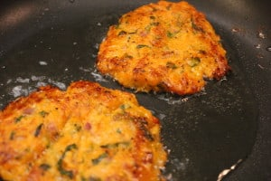 Sweets Potato Cakes and Quinoa in Skillet