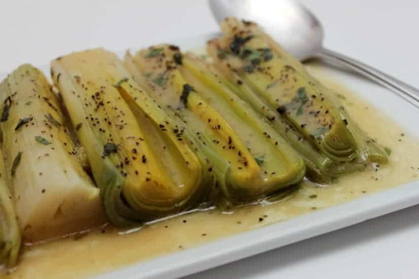 Slow Roasted leeks