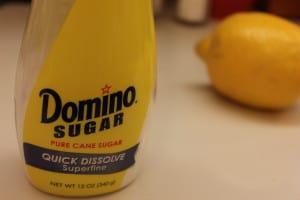 Lemon Poppy-seed pound cake sugar