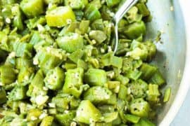 Skillet Okra and Garlic recipe