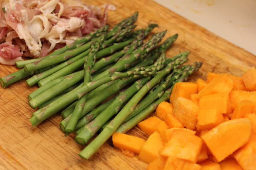 Risotto with Roasted Chicken, Butternut Squash and Asparagus - How To ...