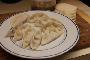 Pork dumplings before steamed