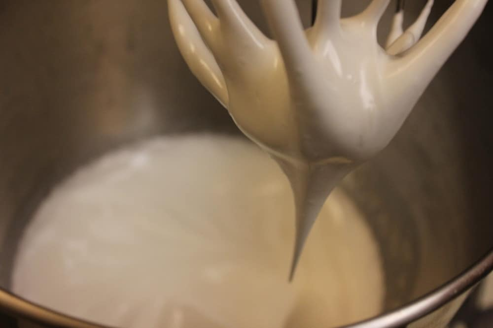 Soft peaks before the meringue