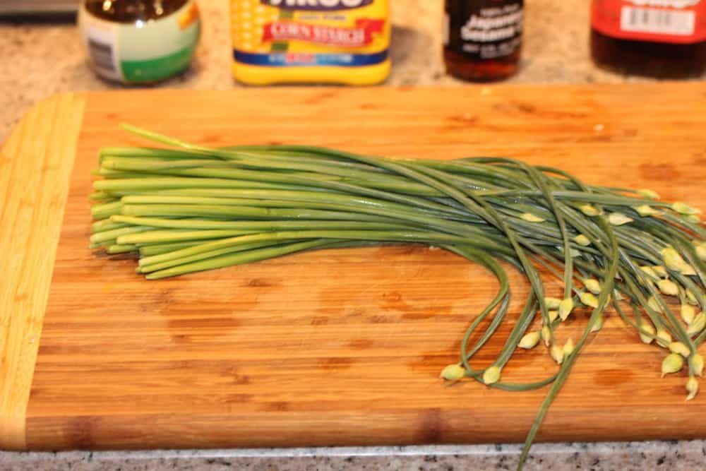 If you can't find Asian garlic chives, just use regular chives
