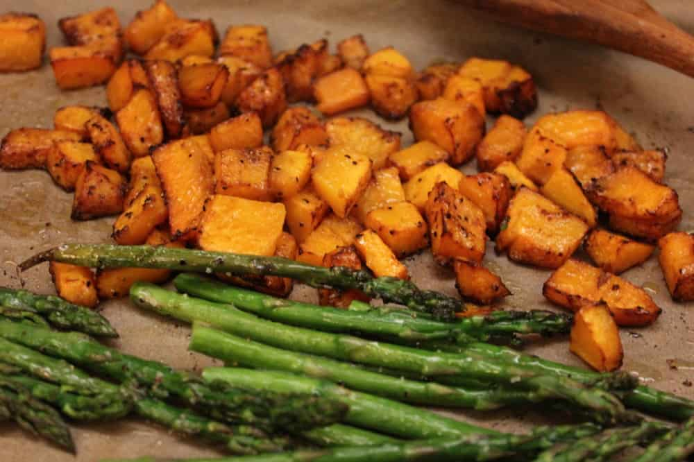 Roasted veggies for risotto