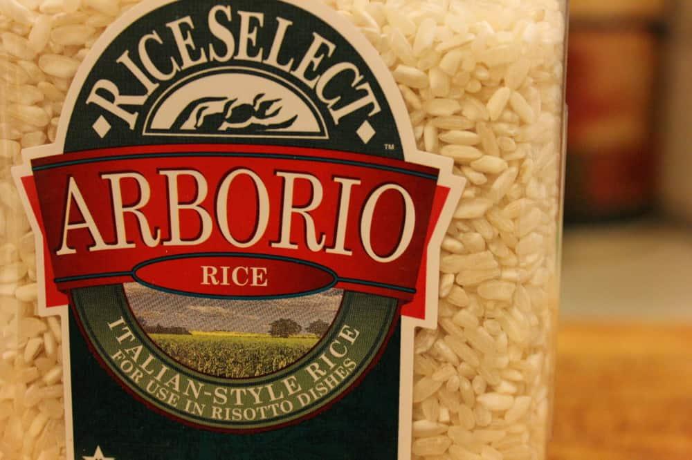 Arborio rice for risotto
