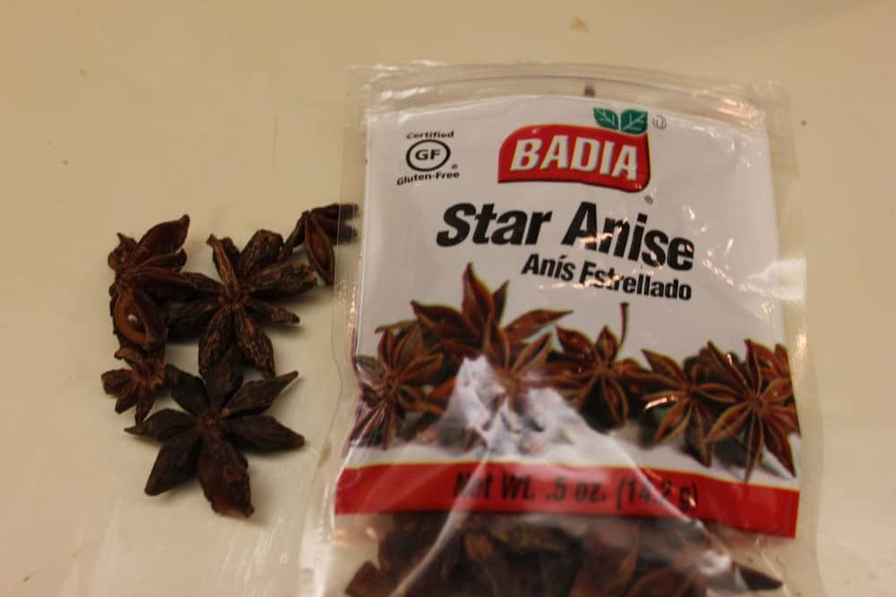 Star Anise is a star ingredient in Poached Pears in Red Wine