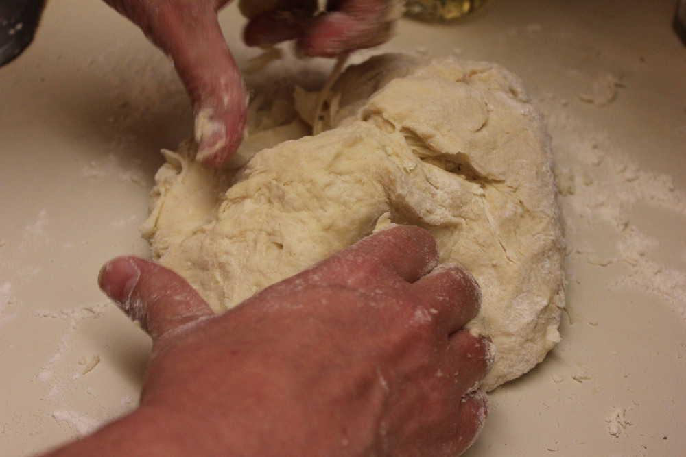 Semolina flour makes the dough so perfect