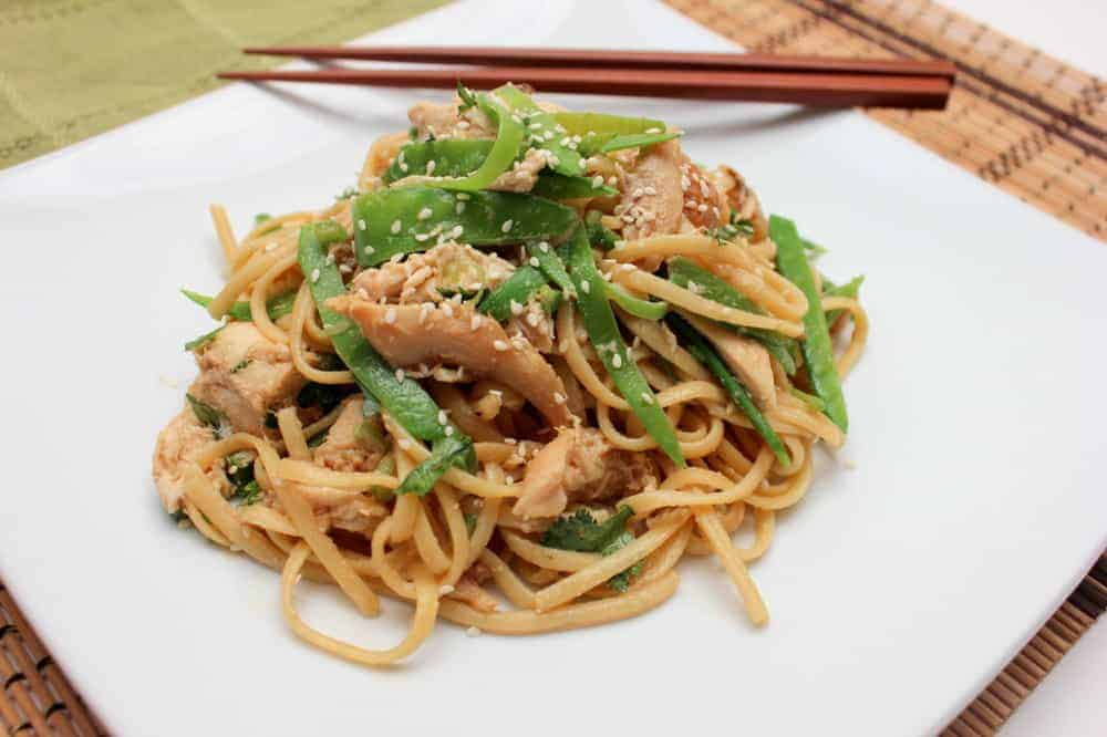 Chinese noodle and chicken salad