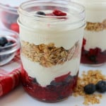 wild berry parfait with mascarpone and vanilla