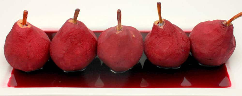 Perfect Pears Poached in a Red Wine Reduction