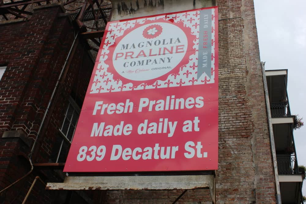 Amazing Pralines (pronounced in 'Praw-leens' in the Big Easy) and a huge assortment of homemade sweet treats are found at Magnolia Praline Compny