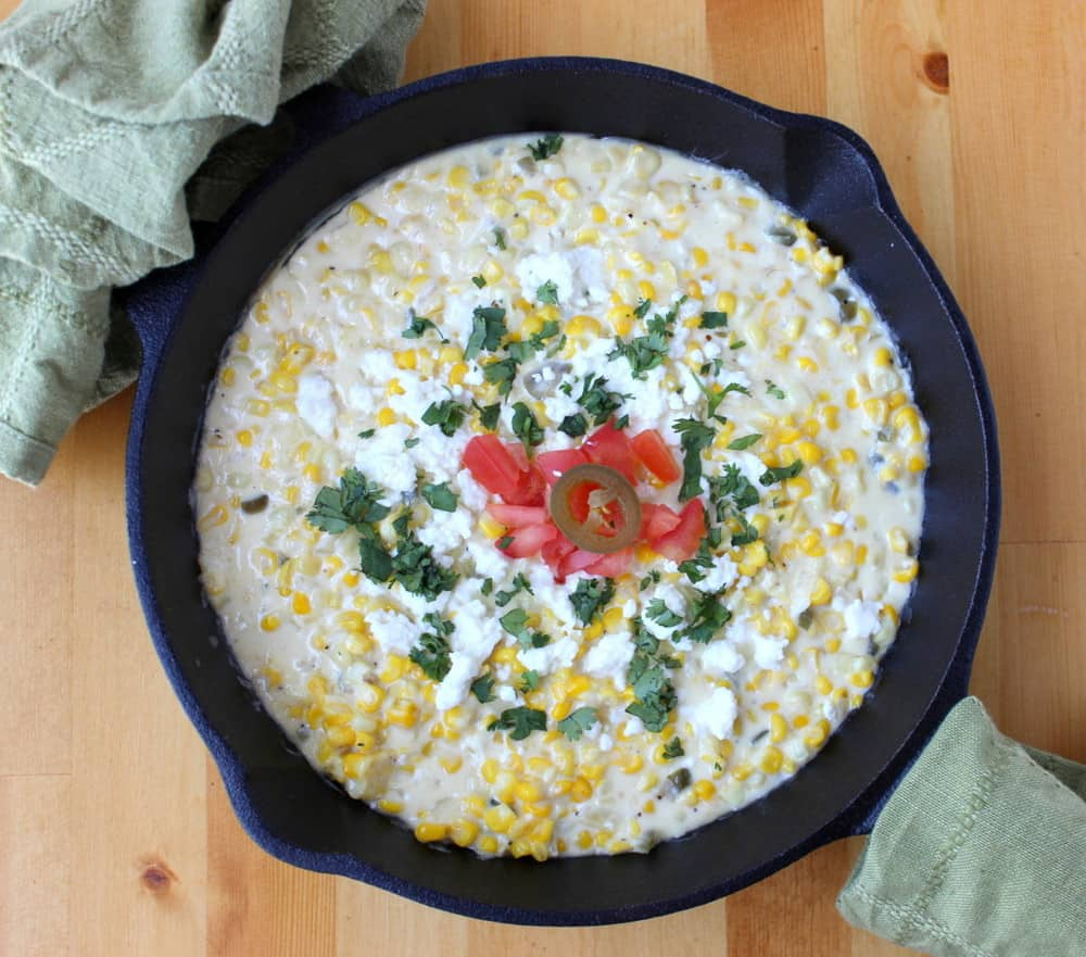 Jalapeno sweet creamed corn