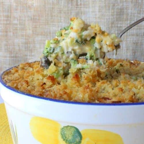 broccoli casserole with homemade cream of mushroom soup