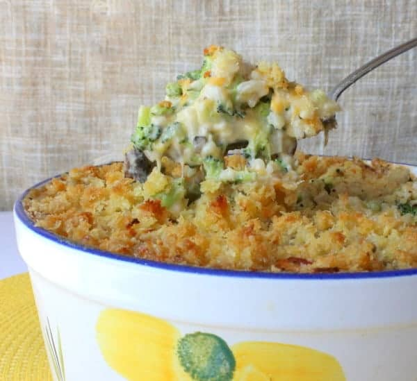 broccoli casserole with homemade cream of mushroom soup