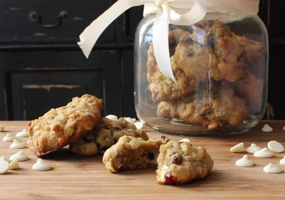 Oatmeal, Cranberry and White Chocolate Chunk Cookies