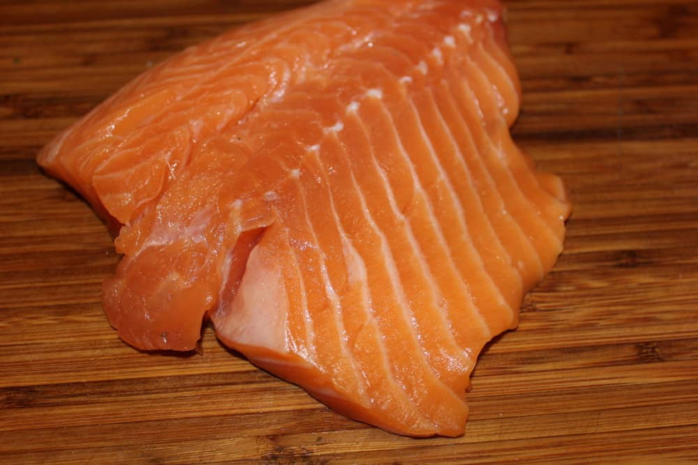 Fresh Salmon ready to take on the flavor!