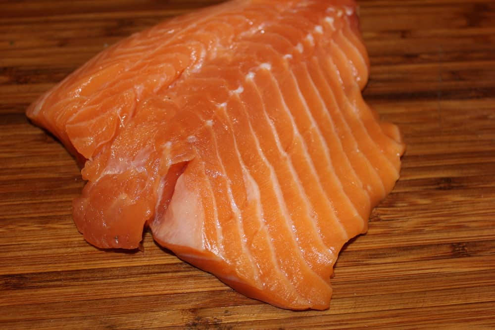 Fresh Salmon ready to take on the flavor!