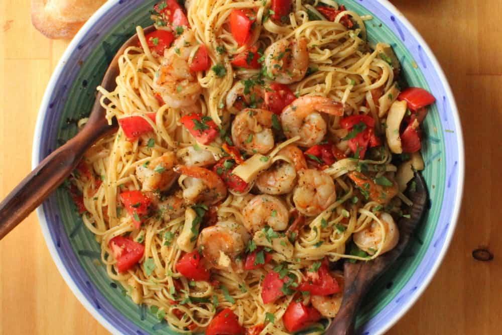 shrimp and artichoke linguine