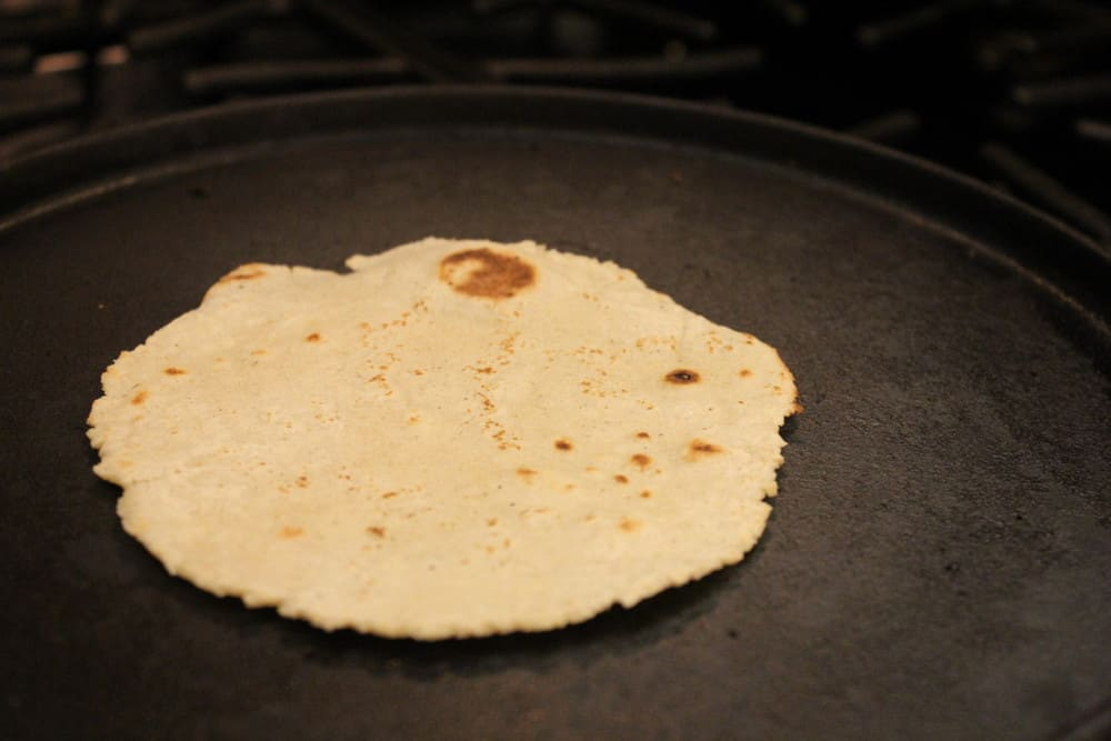Watch the tortillas slightly puff with steam