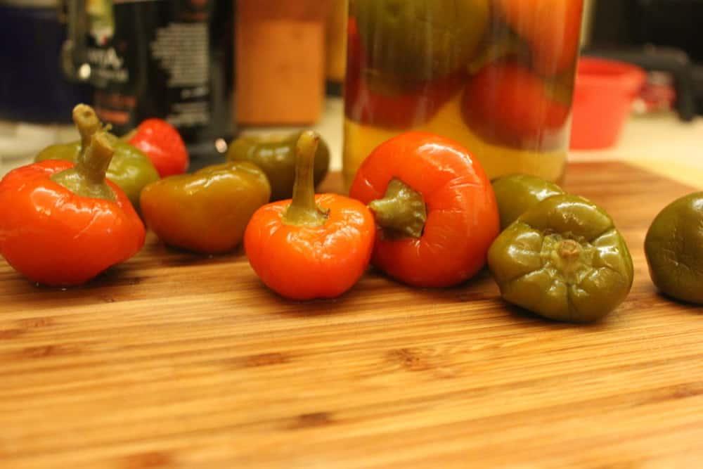 tuna stuffed peppers - peppers