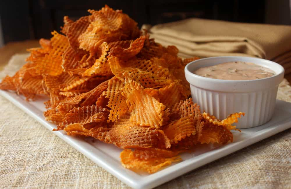 Cross Hatch Sweet Potato Chips - How To Feed A Loon