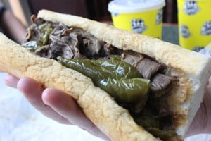 Al's Italian Beef - A little wet with hot and sweet peppers