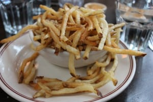 Delicious fresh cut fries