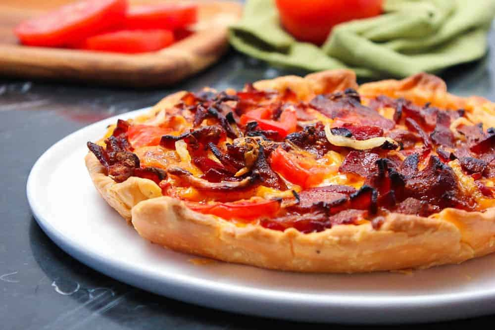 Tomato Cheddar Bacon Pizza Pie-2