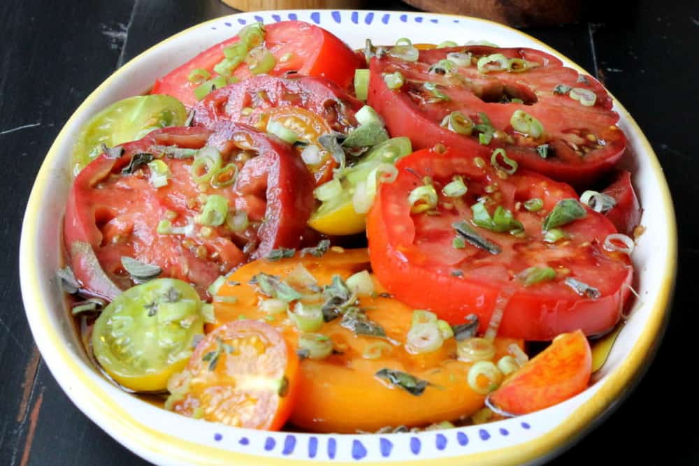 Heirloom Tomato Salad - How To Feed A Loon