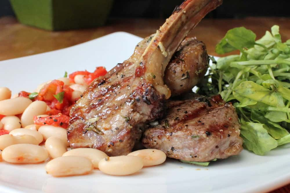 Beautiful lamb chops