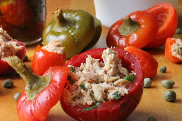 tuna stuffed pepper food gawker
