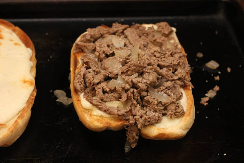 Building the perfect steak and cheese sandwich