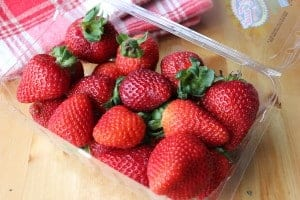 Fresh strawberries are the only way to go!
