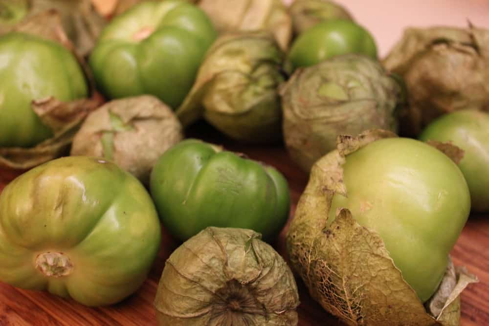 Tomatillos are the base of the salsa verde