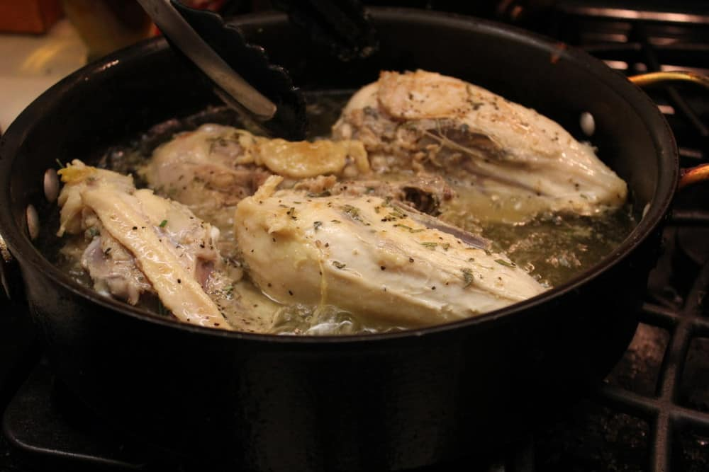 Give the chicken a quick fry in some oil