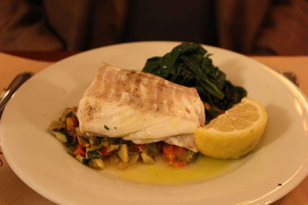 Incredible seared fresh Mediterranean cod